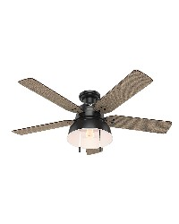 Mill Valley Low Profile 52in Matte Black Damp Outdoor Fan by