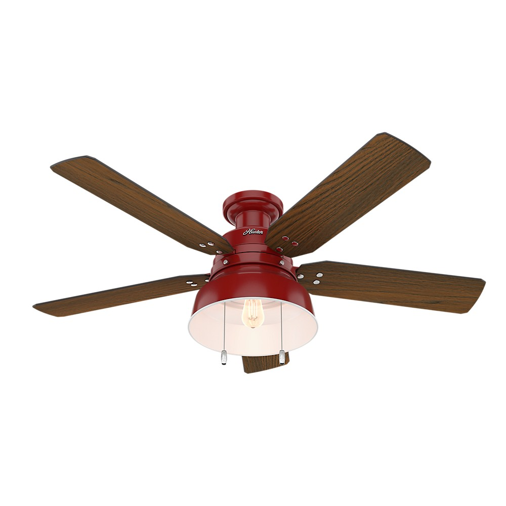 Hunter Baybrook 52 Onyx Bengal Damp Rated Ceiling Fan At: Mill Valley Low Profile