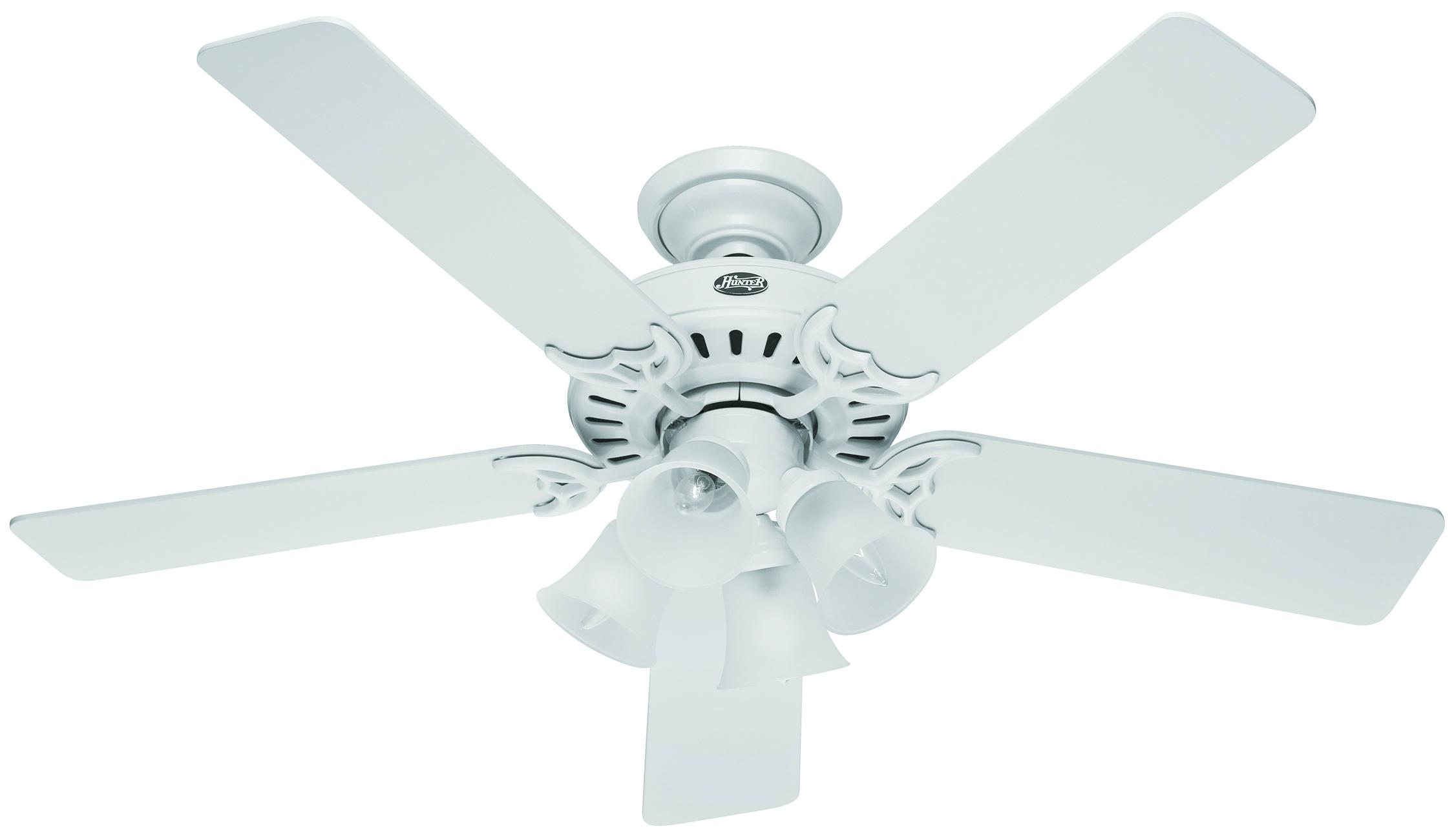 studio white ceiling fan hunter ceiling fans - studio white ceiling fan