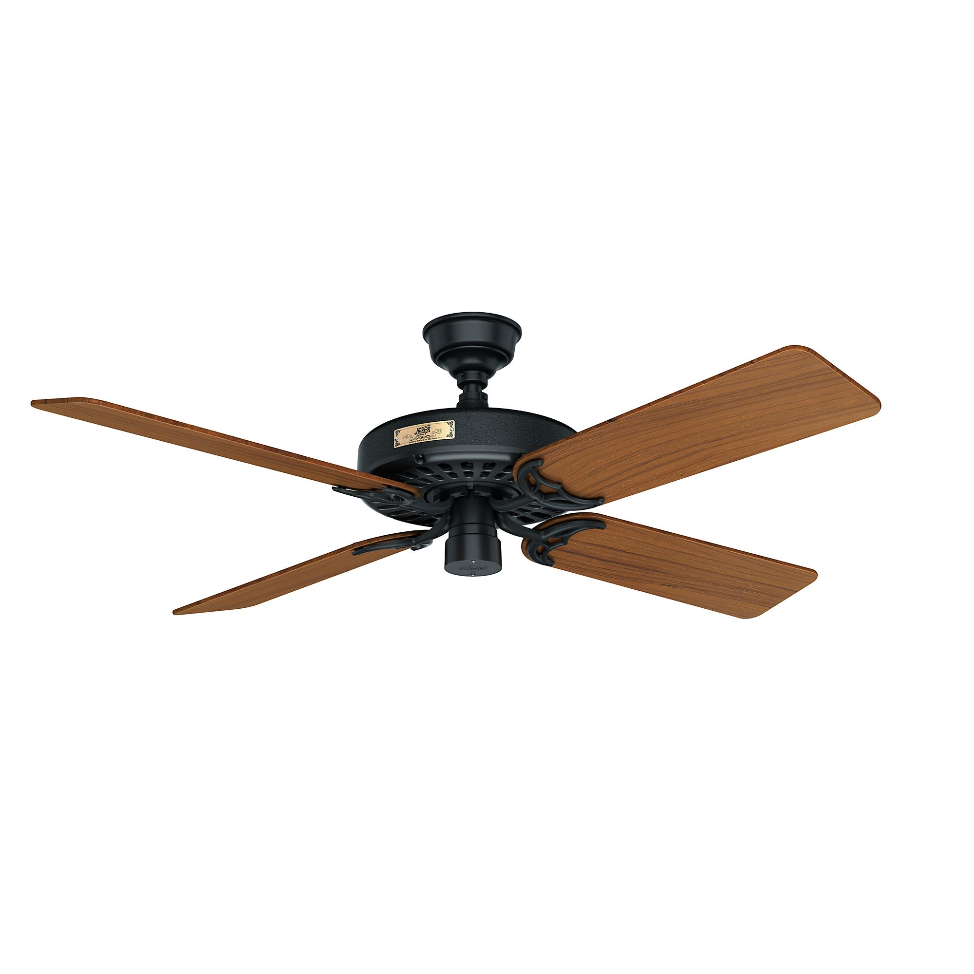 Lubricating Ceiling Fan : Hunter original with teak blades ceiling fans