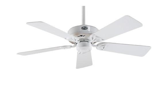 Hudson white ceiling fan hunter prestige ceiling fans for Hunter prestige fans
