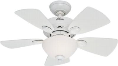 hunter ceiling fans 52089  270243 hunter fans 52089  Watson 34in White ceiling fans small fans office fans Hunter 52089 Hunter Watson 34in White model 52089