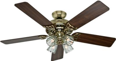 hunter fan studio series ceiling fan hunter ceiling fans h058 52p4 53066 Studio Series Ceiling Fan  266992 hunter fan 53066 Studio Series Ceiling Fan  Studio Series Bright Brass Ceiling Fan Hunter  Hunter Studio Series Bright Brass Ceiling Fan model  Studio Series Bright Brass 52in Ceiling Fan