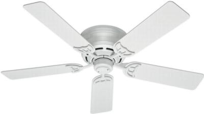 traditional ceiling fans hunter ceiling fans 53069  270279 hunter fan 53069  hunter 52in Low Profile III White ceiling fans Hunter 53069 Hunter 52in Low Profile III White model 53069