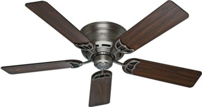 traditional ceiling fans hunter ceiling fans 53071  270281 hunter fan 53071  hunter 52in Low Profile III Antique Pewter  ceiling fans Hunter 53071 Hunter 52in Low Profile III Antique Pewter model 53071