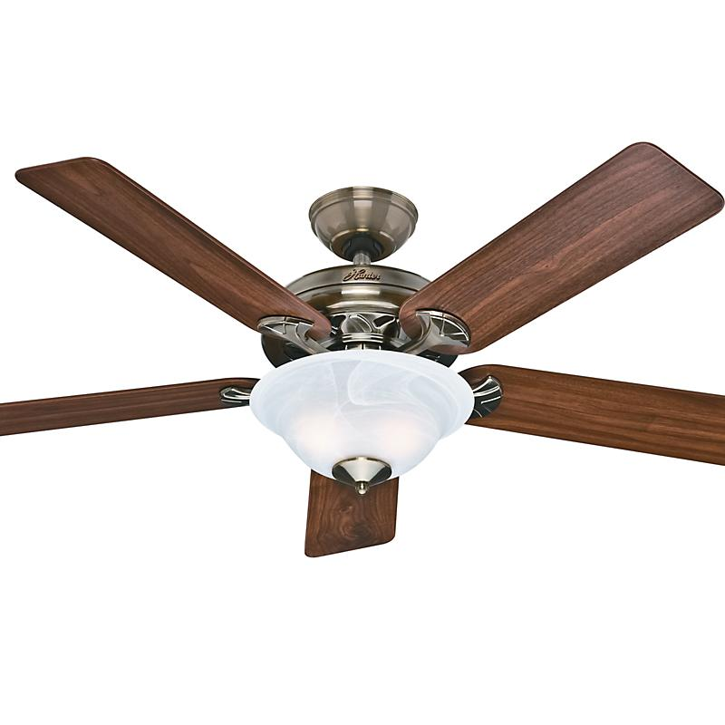 Old Ceiling Fan Parts : The brookline in antique brass hunter ceiling fans