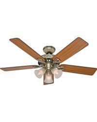 The Sontera Ceiling Fan Bright Brass The Sontera