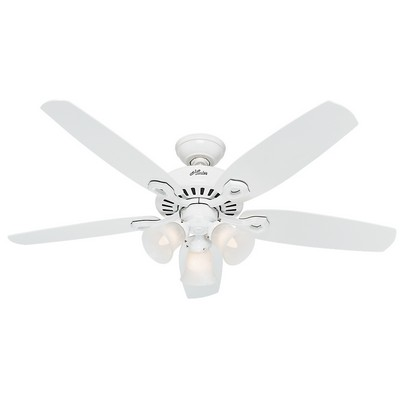 hunter ceiling fans 53236  476374 Hunter Fan 53236 builder plus snow white ceiling fans builder plus fans builder plus ceiling fans Hunter Custom Builder Fans Hunter 53236 Hunter Builder Plus 52inch Snow White model 53236