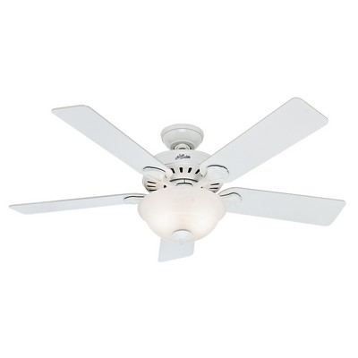 hunter ceiling fans 53251  476379 Hunter Fan 53251 white ceiling fans hunter pros best 5 minute fan five minute fans hunter five minute fans Hunter Custom Builder Fans Hunter 53251 Hunter Pros Best Five Minute Fan 52inch White model 53251