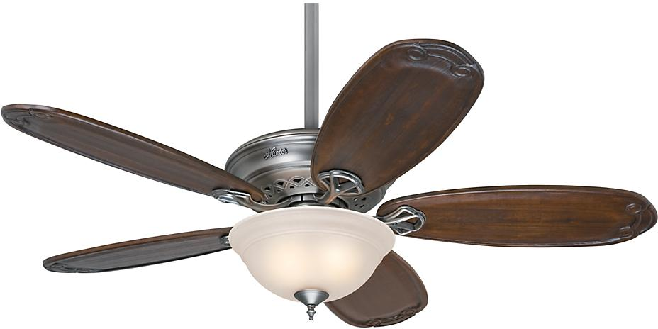 Teague 54in Antiqure Pewter Prestige Fan Interiordecorating