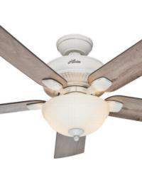 Matheston 52in Cottage White Outdoor Fan Damp by