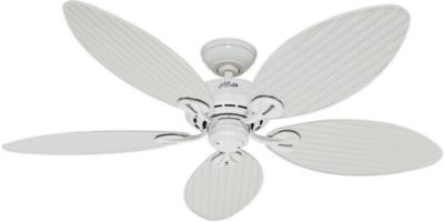 hunter ceiling fans 54097  270319 hunter fans 54097  hunter Bayview 54in White ETL Damp ceiling fans ceiling fan with palm leaf blades palm leaf ceiling fan Hunter Outdoor Ceiling Fans Hunter 54097 Hunter Bayview 54in White ETL Damp model 54097