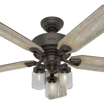 hunter ceiling fans 2018 fans farmhouse style Devon Park Onyx Bengal 52in Fan 54201  657716 Hunter Fan Devon Park Onyx Bengal