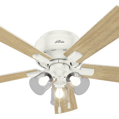 hunter ceiling fans 2018 fans Crestfield Low Profile Fresh White 52in Fan 54207  657712 Hunter Fan Crestfield Low Profile Fresh White