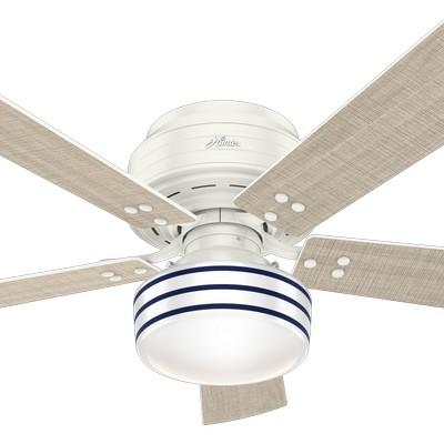 hunter ceiling fans 2018 fans Cedar Key Fresh White 52in Fan 55079 Outdoor Fans ETL Damp Rated Fan porch fans patio fans lanai fans  657715 Hunter Fan Cedar Key Fresh White Hunter Outdoor Ceiling Fans