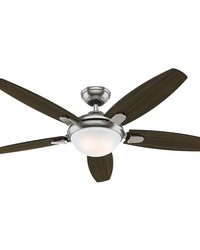 Contempo 52in Ceiling Fan Brushed Nickel new 2016