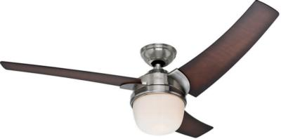 Eurus 54in Brushed Nickel Prestige Fan Interiordecorating