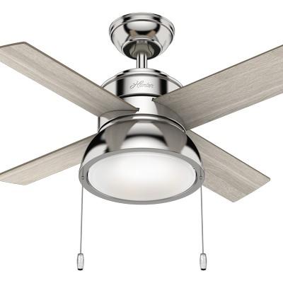 hunter ceiling fans 2018 fans small ceiling fans Loki Polished Nickel 36in Fan 59386  657721 Hunter Fan Loki Polished Nickel