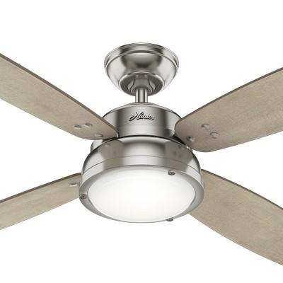 hunter ceiling fans 2018 fans Wingate Brushed Nickel 52in Fan 59439  657722 Hunter Fan Wingate Brushed Nickel