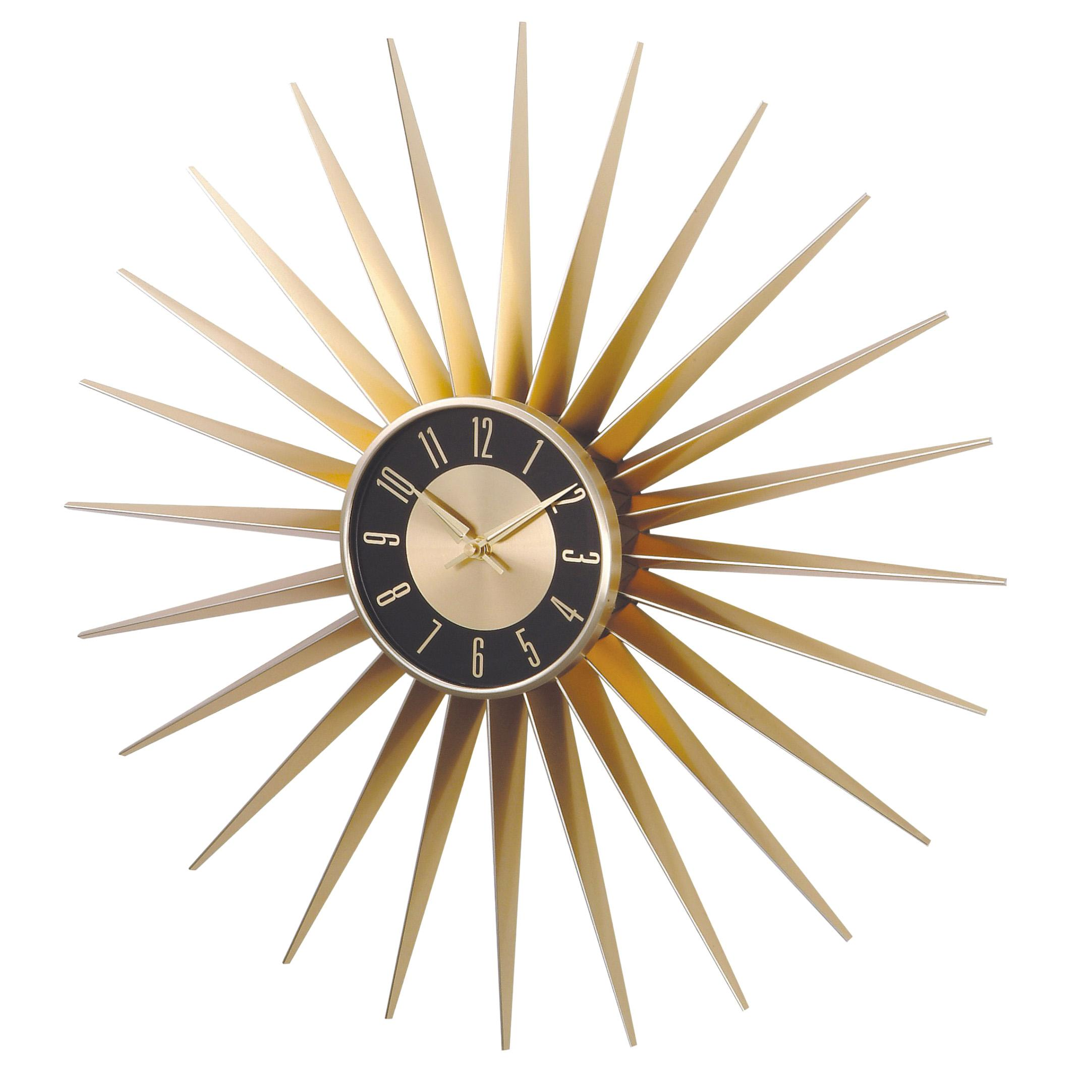 Metal Sunburst Wall Clock