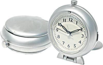 Kirch & Co Metal Travel Alarm Clock with Snooze  Alarm Clocks