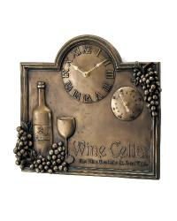 Bronze Merlot Clock and Thermometer by