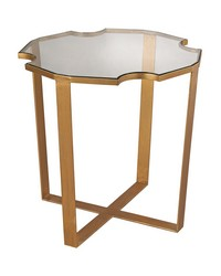 Cutout Top Side Table by