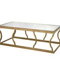 Metal Cloud Coffee Table antique gold by