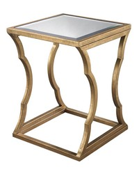 Metal Cloud Side Table antique gold by