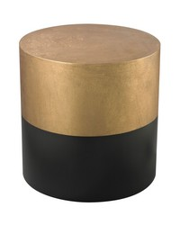 Black And Gold Draper Drum Table by
