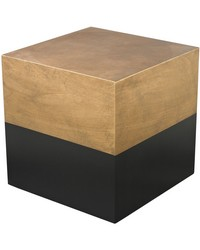 Black And Gold Draper Cube Table by