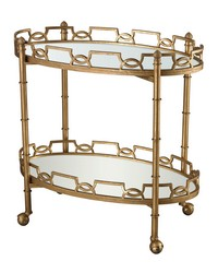 Curvilinear Two Tier Tray Table by