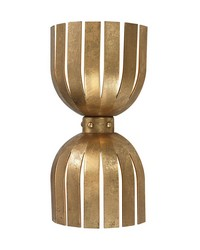 Gold Leaf Olympia Double Wall Sconce by