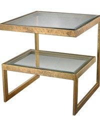 Gold Leaf Key Side Table by