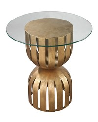 Gold Leaf Olympia Side Table by