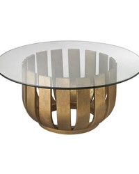 Gold Leaf Olympia Coffee Table by