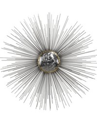 Silver Sun Metal Wall Decor by