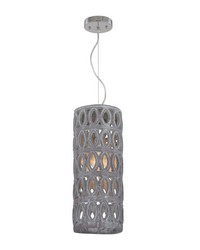 Large Pierced Grey Antique Lantern by