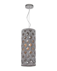 Pierced Grey Antique Lantern With Geometric Pattern by