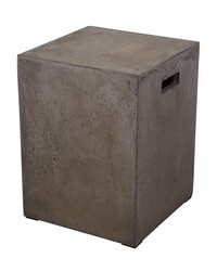 Square Handled Concrete Stool by