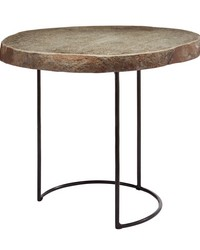Short Stone Slab Wire Frame Table by