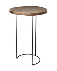 Stone Slab Wire Frame Table by