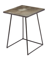 Linear Concrete Accent Table by
