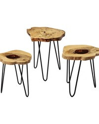Teak Nesting Tables by