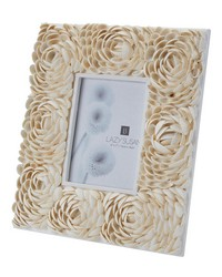 5X7 Natural Shell Flower Pattern Frame by