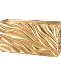 Swirl Table Planter - Gold Leaf by