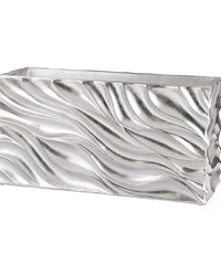 Swirl Table Planter - Silver Leaf by