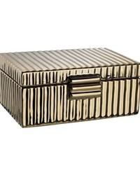 Ceramic Golden Jewelry Box by
