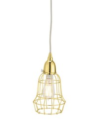 Gold Wire Barrel Pendant Light by