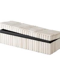 Bone Rod Pattern Rectangular Box by